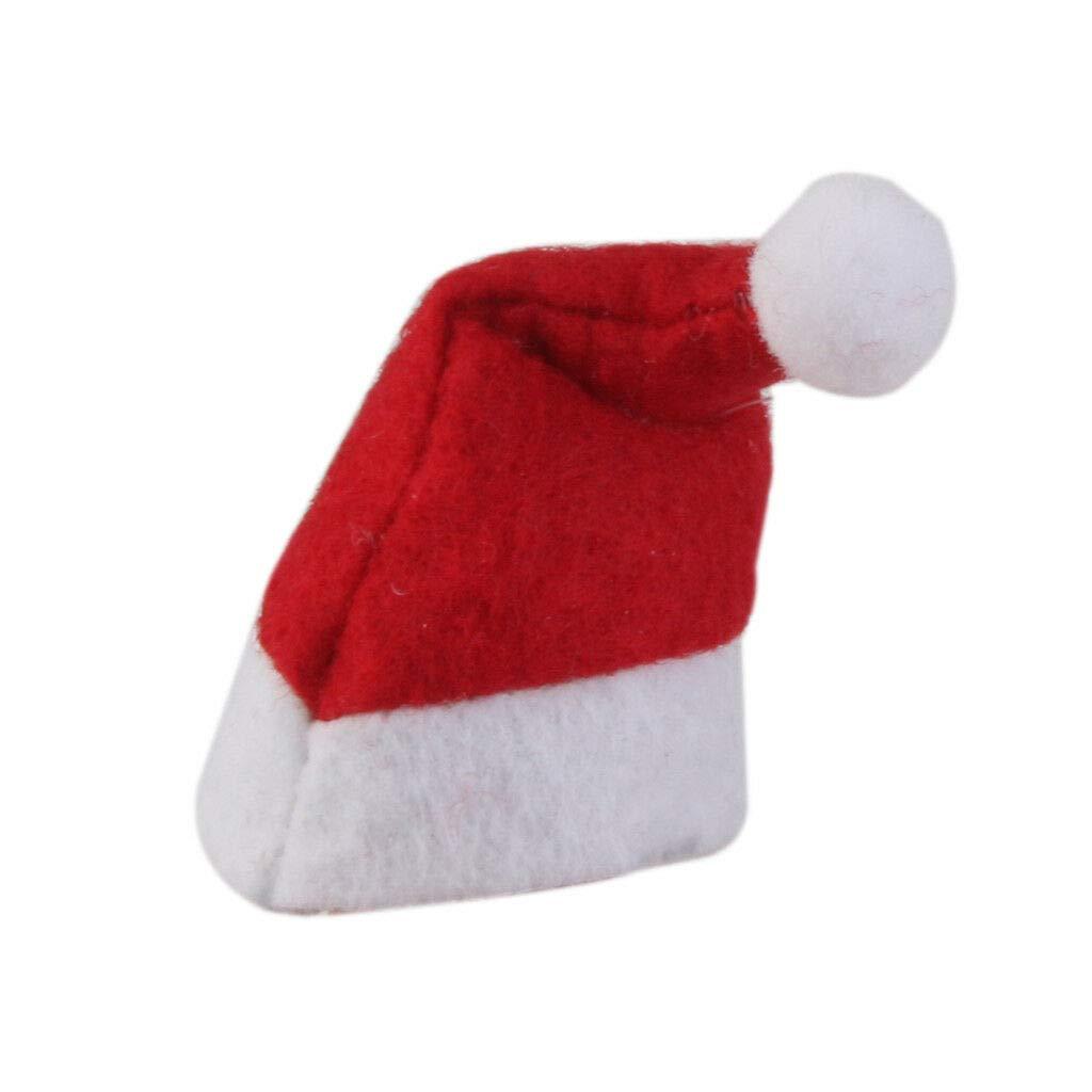 6 Mini Santa Claus Hat Christmas Xmas Holiday Lollipop Lollypop Topper Decor