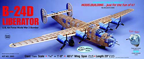 Air Force One Rc Plane - Guillow's Consolidated B-24D Liberator Model Kit