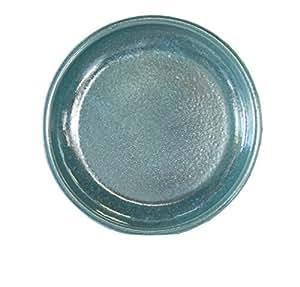 –Plato para maceta redonda a las heladas, impermeable Bebedero Diámetro 23x 4cm, forma de superficie 18cm, 099.023.66Efecto Verde Calidad de hentschke cerámica