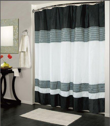 UPC 815634016057, Kashi Home Ibiza Shower Curtain 70x72, Black White