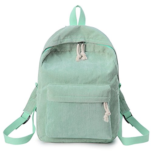 Gray Dabixx Students Light Fashion Rucksack Green Girls Backpack Bags Women School Corduroy vnnOtrx