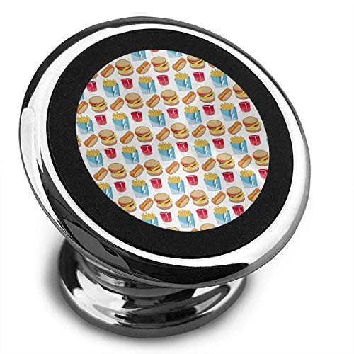 Universal Magnetic Phone Car Mounts Magnet Holder Hamburger Fries and Cola Pattern Magnetic Mount for Phone 360° Rotation