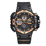 Electronics Men Best Deals - Men's Sports Analog-Digital Electronic Casual Military Large Face Wrist Watch with Water Resistant and LED Backlight