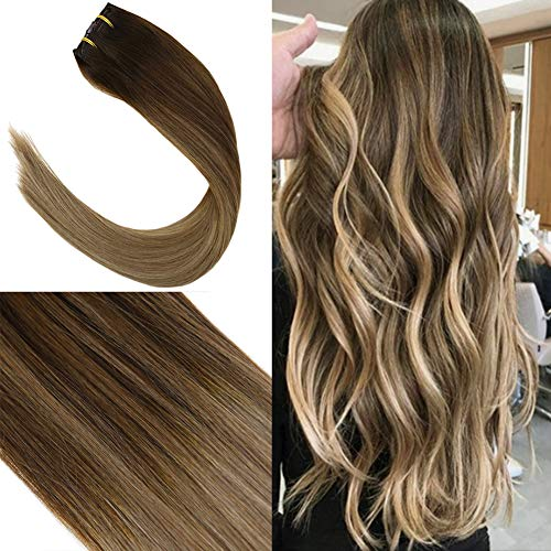 Youngsee 14inch 7 Pieces Clip in Hair Extensions