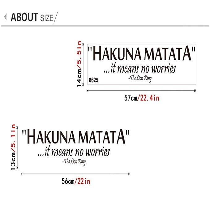SOSO Tatuajes de pared inspiradores para el hogar, citas de Hakuna ...