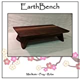 EarthBench Shrine Table - Petite Floor Altar (5'' inches tall) - Solid DARK WALNUT Construction. For Meditation, Prayer, or Contemplative Studies.