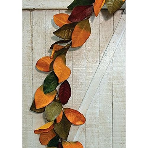 (BCD Fall Magnolia Leaves Garland, 5ft - Great For Autumn Decorating)