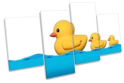 Amazon.com: Canvas Geeks - Modern Rubber Ducks Bathroom - 120cm wide ...