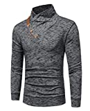 Abetteric Men's Fashion Plus Size Long Sleeve Knitting Hoodies Outerwear