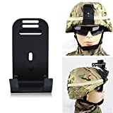 Helmet Mount For MICH Night Vision Goggle Helmet Mount Camera Bracket Mount Aluminum Alloy Helmet Mount With Screw Military Accessories, Black