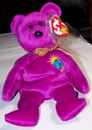 MILLENNIUM the 2000 Magenta Teddy Bear - MWMT Ty Beanie Babies nn/nn Version