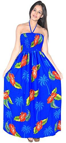 de LEELA la Desgaste Falda Mujer j909 Traje Playa para Traje Azul de LA Maxi de Vestido Encubrimiento baño Correas Tarde la de baño de del Tubo de la de dq1TZZ8