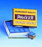 Pioneer 12 Boxes of 12 Cubes of Tournament Quality Chalk - Blue