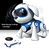Yeezee Wirless Robot Puppy, Interactive Little Baby Pup with Magent Bone, Walking Talking Remote Control Dog, Robot Pet for Kids/Boys/Girls
