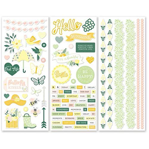 Simply Sunshine Stickers (3/pk) Designer Spring Scrapbook Stickers by Creative Memories