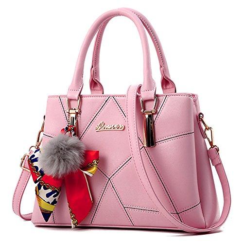 Handbags Shopper Bolsa De Bag Bag Paquete Female Messenger Ladies Hombro Handbag Womens Rosa Ruiren 7qU1S