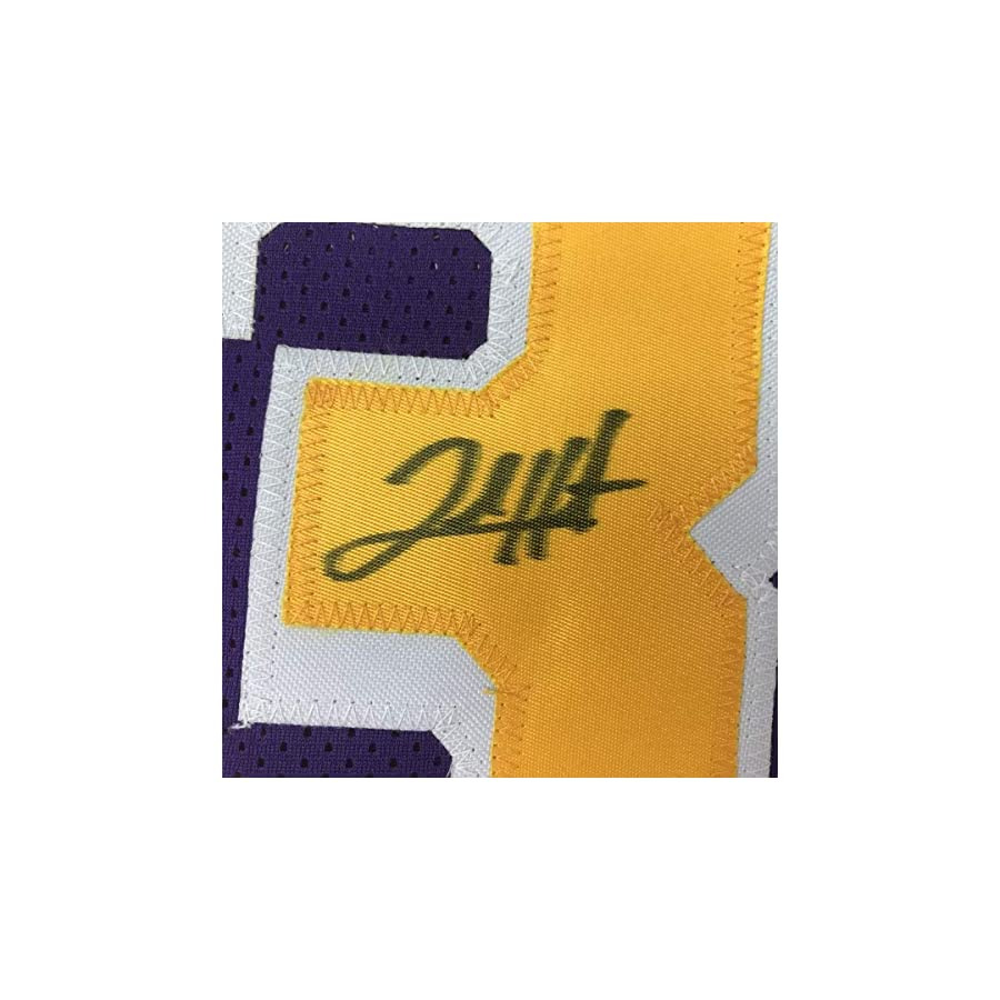 Autographed/Signed Josh Hart Los Angeles LA #3 Purple Basketball Jersey JSA COA