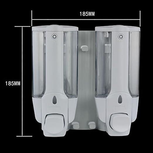 LF Dispensadores de jabón y loción Dispensador de jabón / distribuidor de jabón manual de doble pared / dispensador de jabón de hotel / casa / caja de jabón ...