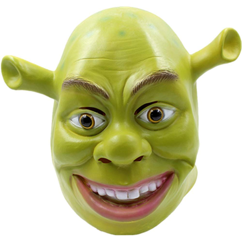 Funny Joke Green Shrek Latex Masks Movie Cosplay Prop Adult Animal Party Mask for Halloween Party Costume Fancy Dress Ball