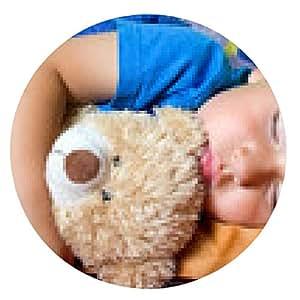 alfombrilla de ratón joven durmiente - ronda - 20cm