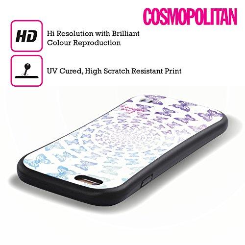 Official Cosmopolitan Spiral Butterflies Boho Hybrid Case for Apple iPhone 5 / 5s / SE