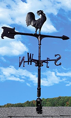 Whitehall Products Rooster Accent Weathervane, 30-Inch, ()
