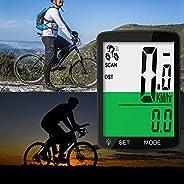 Leeko Bicycle Computer Wireless Speedometer, ID Coded Wireless Bicycle, Waterproof Big Font Data Display Auto