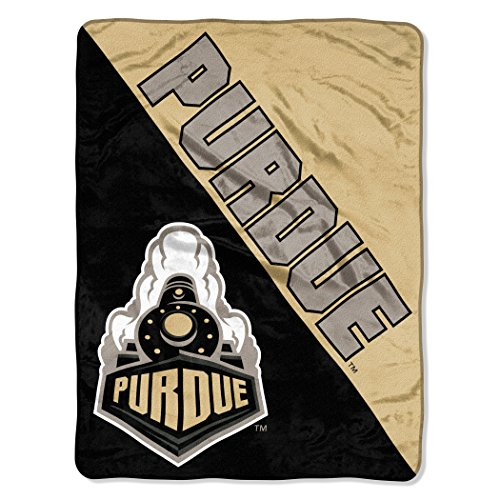 The Northwest Company Officially Licensed NCAA Purdue Boilermakers Halftone Micro Raschel Throw Blanket, 46