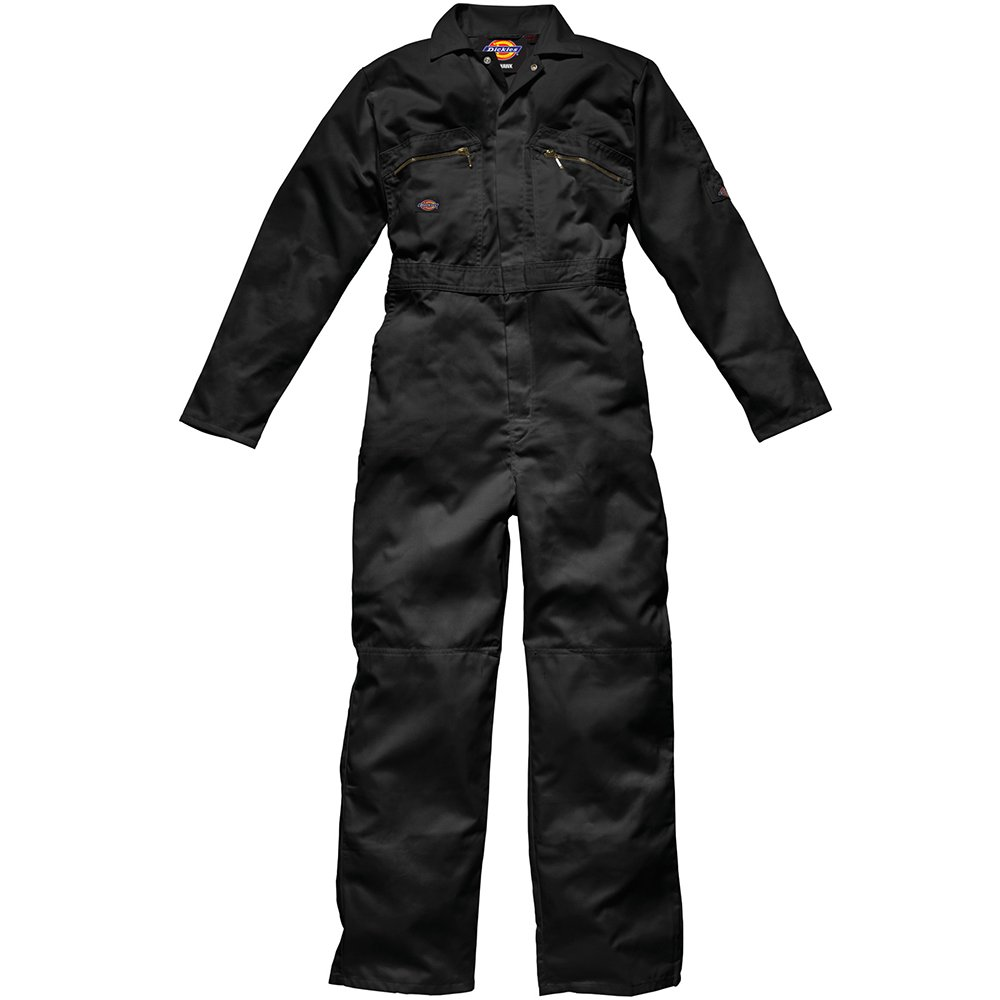 Dickies WD4839 BK 48R Size 58'Redhawk' Overall with Zip Front - Black
