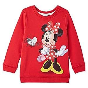 Disney Red Sweat Lycra Print Sweatshirt - 24 to 36 Months