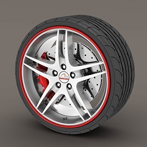 Anelli di protezione Rimblades per bordo cerchioni in lega per Mini Cooper S, colore: rosso