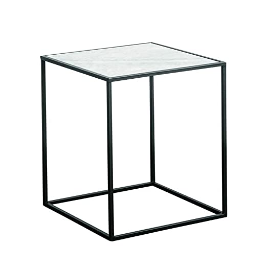 Mesa de café, forjado cuadro de la tabla del hierro, blancos ...