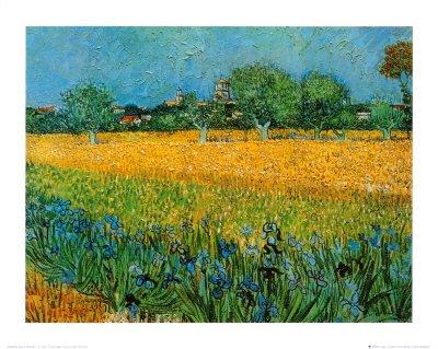 View of Arles with Irises Art Poster Print by Vincent van Gogh, - Arles Poster Print