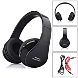 Headphone,EEDI Foldable Adjustable Over-head Wireless Bluetooth Stereo Headset Handsfree Headphones Earbuds with Mic USB Rechargeable,10 Hours Playtime(Black)