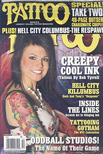 TATTOO Magazine October 2008 No. 230 (World's largest selling tattoo magazine, Tattoos by Bob Tyrrell, Hell City Killumbus, Scratch art in slinging ink, Tattooing Gotham)