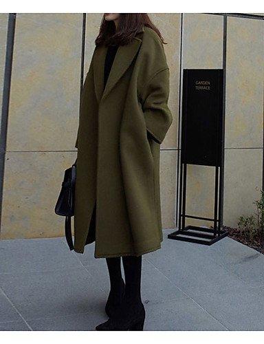 女性と 039 ; s外出プラスサイズの洗練された秋冬のコート、立体ロングスリーブロングカシミアポリエステル,xl,ワイン B077RVGF5Q