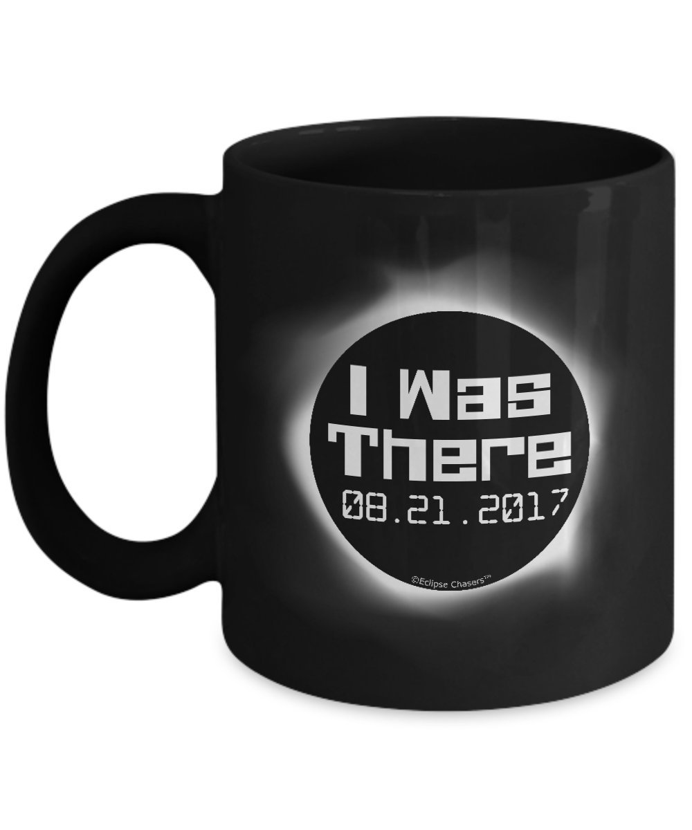 I Was There USA Date Format Total Solar Eclipse 2017 Coffee Mug - Science and Astronomy Geek Gifts (11 oz, Black)