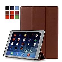 Protection Housse pour Apple iPad Air 2 9.7 Pouce Smart Slim Case Book Cover Stand Flip iPad 6 (Marron) NEUF