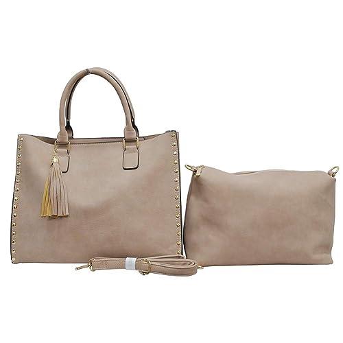 NGIL Themed Print 2-in-1 Tote   Crossbody Bag (Beige)  Handbags ... 3deb289feaa4c