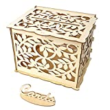 OrchidAmor Wedding Card Box with Lock DIY Money Wooden Gift Boxes for Birthday Party
