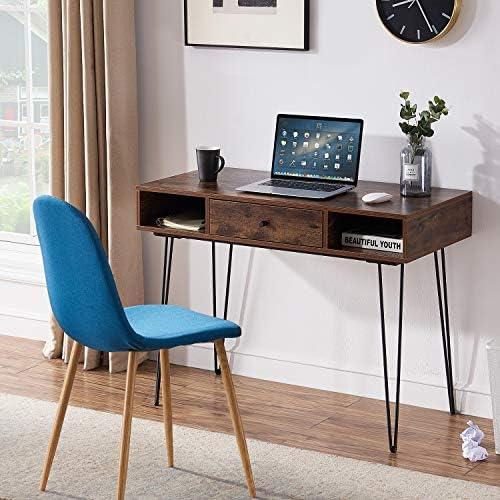 VECELO Computer Home Office Laptop Table,Study Writing Desk