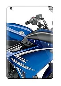 lintao diy DPatrick Scratch-free Phone Case For Ipad Mini/mini 2- Retail Packaging - Yamaha Fz6r Blue
