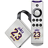 Skinit NBA Los Angeles Lakers Amazon Fire TV Skin - LeBron James Lakers White Jersey Design - Ultra Thin, Lightweight Vinyl Decal Protection