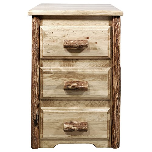 Montana Woodworks MWGCN3D Glacier Country Collection Nightstand with 3 Drawers, Stain & Lacquer ()