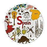 Spain Landscap Animals National Flag Dessert Plate Decorative Porcelain 8 inch Dinner Home