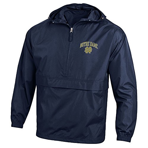 Elite Fan Shop Notre Dame Fighting Irish Packable Jacket Navy - M
