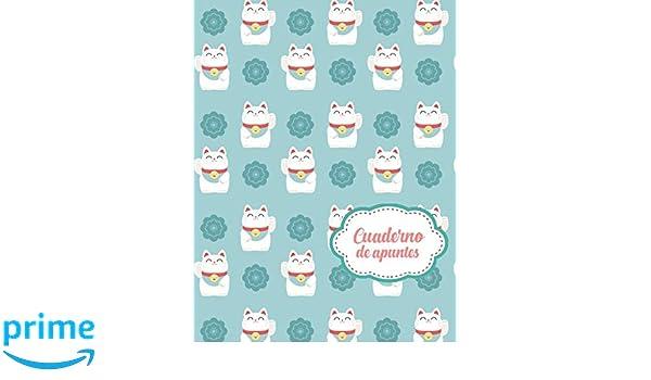 Cuaderno de Apuntes: Libreta Cuadriculada Cuadro Pequeño 5x5 mm con tema de Japon Gatos Hoja Blanca 8.5 x 11 in (21.5 x 27.9 cm) 120 paginas: Casa Gomez ...