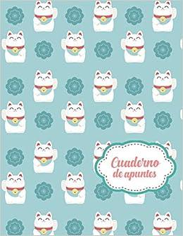 Cuaderno de Apuntes: Libreta Cuadriculada Cuadro Pequeño 5x5 mm con tema de Japon Gatos Hoja Blanca 8.5 x 11 in 21.5 x 27.9 cm 120 paginas: Amazon.es: Casa ...