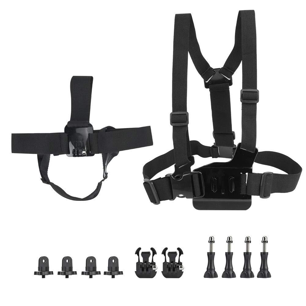 Pomya Action Camera Chest Harness Mount Kit, Adjustable Elastic Chest Belt Head Strap Harness for Insta360 ONE &ONE X by Pomya