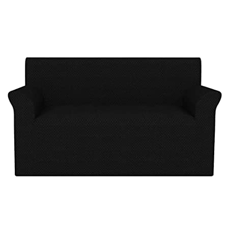 Zora Walter Funda elástica para sofá Negra piqué Lavable en la ...